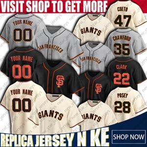 28 Buster Posey Jersey Brandon Crawford Jerseys San Francisco Individuelle Giants Baseball Jersey Brandon Belt Cueto Davis Madison Bumgarner