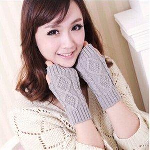 doigt coréenne chaud la moitié des femmes d'hiver chaud double face et des gants en laine de diamant de haute qualité des gants de doigts gainés tricotées