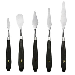 5pcs Stainless Steel Palette Knives and Spatulas Mixed Scraper Set Spatula Knives for Artist Oil Painting Acrylic Watercolor Art