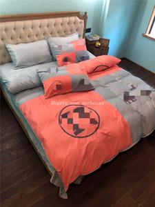Contrast color Bedroom Bedding Suit Soft Cotton Bedding Suits Home Warm Down Quilt Cover Set High Quality Home Textiles Bedding Supplies