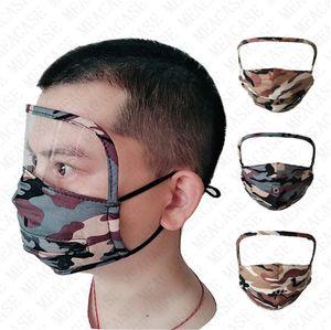 2in1 Camouflage Face Mask avec Eye Shield Zipper paille Boisson Makss unisexe facial Protecter Masque vélo réglable Facile à boire D72306