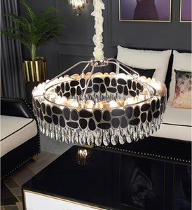 loft modern chandelier living room  crystal chandelier round bedroom lighting dining room decoration lamp