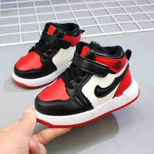 Invierno 2020 zapatos de diseño suave para niños calientan tamaño 21-25 Zapatos cómodos respirable del bebé zapatillas de deporte de los niños muchachas de los muchachos del niño rojo + blanco + rosa