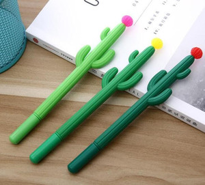 Cactus Gel Pen School Office Signature Pen Cute Creative Design Student Personality Writing Stationery Free Shipping