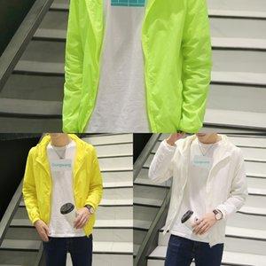 Yaz erkekler ince güneş kremi cilt ceket gençler deri mont ince uygun kapüşonlu öğrenci ceket ceket moda ceket boyutu