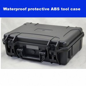 ABS Tool case toolbox Impact resistant sealed waterproof safety case equipment camera with pre-cut foam 330-234-105mm fAMO#