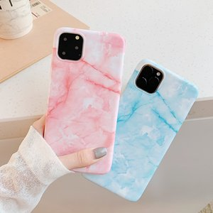 IPhone 11pro simple IMD glossy marble pattern mobile phone case drop protection cover soft shell