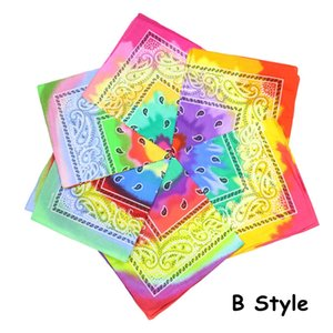 Paisley Tie Dye Bandana Magic Headband Multifunctional Plaid Wristband Headscarf Paisley Cowboy Bandanas 12pcs lot CCA12335 12lot