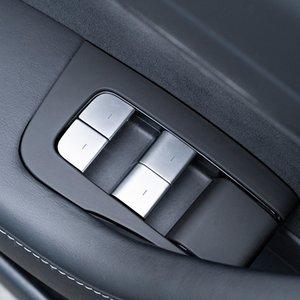 Elevación Car Styling ventana botones de cristal de las lentejuelas Decoración ajuste de la cubierta 11Pcs Para Tesla Model 3 2017-2019 Accesorios Interior