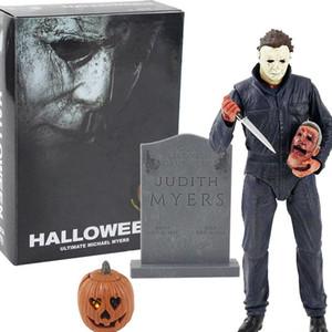 2020 NECA filme Halloween final Michael Myers com luz LED PVC Action Figure Collectible Modelo