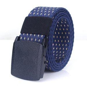 Men Army Belts Adjustable Belt Men Outdoor Travel Tactical Waist Strap with Plastic Buckle for Pants Casual Canvas Belt Cinturon