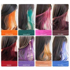 2020 New Style Pure Color artificielle Piece cheveux colorés design pour la mode filles en gros 20pcs / lot