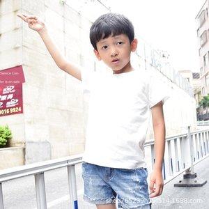 2020 Summer ho t Xu Chen Tong Tong Shan niños unisex del shan de Chen algodón liso Camisas de niños ocasional coreana camiseta de los niños