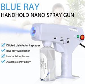 Kalte fogger Maschine Spritzen Desinfektion fogger Spray Hand 1200W Nano Sprüher Desinfektion Anion blaue Licht Nanometer-Spritzpistole