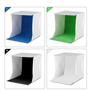 Light Tent Portable Light Box Photography Kit with LED Light (12X12X12 Inches) 4 Colors Backdrops