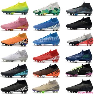 2020 New Mercurial Superfly 7 Elite SE FG Neymar Ronaldo Mens Soccer Cleats Cheapest Soccer Shoes ACC Mens Football Boots Scarpe Da Calcio