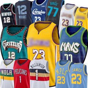 Мужчины-Zion NCAA Williamson Леброн Джеймс Luka дети 77 Doncic Джерси Ja 12 Моран 2020 Нового колледж Мюррей государственного Racers Баскетбол Джерси