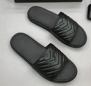 Marca New Mens ouro metal plana sandálias de couro genuíno Beach Party Outdoor Preto chinelo Sapatos 38-44 01d CS09