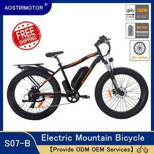 Aostirmotor электрические горные велосипед жирные шины велосипед 750W E-Bike Beach Bike 48V 13AH литиевая батарея США
