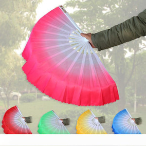 5 Colors Chinese Silk Hand Fan Belly Dancing Short Fans Stage Performance Fans Props for Party LX7026