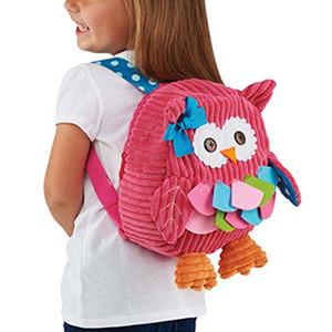 Neue Kinder-Rucksack-Beutel Kindergarten Mädchen Jungen Geschenke nette Karikatur-Spielzeug Kid Owl Schulranzen 2019 Boy nette kleine Schulranzen