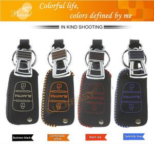 clé couverture pour Elantra 2011 cuir hyundai fois voiture Porte-clés clé de voiture à distance cas key2a