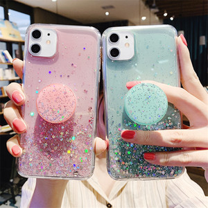 Держатель стиля Shinny iPhone 11 Case STAND TPU для девочки для кронштейна с силиконовым чехол для чехол 8 6 7 Iphone сокет телефон Pouch Mwneo