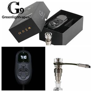 Портативный G9 Tick Enail Kit Electric Dab Nail Pen Rig Wax PID TC Box С 16MM 20MM Titanium Domeless Coil Нагреватель ENail Kit