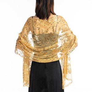 Hot new sequins wedding evening Evening dress scarf dress cheongsam shawl bride bridesmaid shawl scarf female