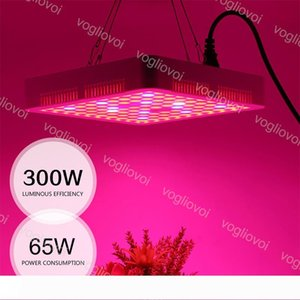 Full Spectrum Led Grow Lights 300Leds Square Good Radiator ABS PMMA Cover For Covered Grow Tent Green Houses Plant Hydroponic Systems DHL
