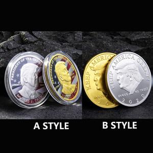 Новый Дональд Трамп президент Памятные монеты Trump Золото Серебро Железо Монеты Коллекционные Подарочные монеты Америка Президент Памятная DHF446