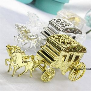 10pcs lot Cinderella Carriage Wedding Favor Boxes Candy Box Royal Wedding Favor Boxes Gifts Event & Party Supplies