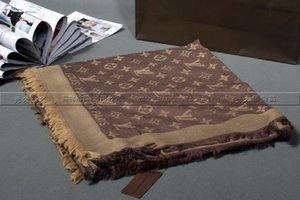 feixiang5255 N4SN Фабрика Продать бренд классического дизайн Письмо пашминов шарф платок шарф металл печать шерсть кашемир шарф оборачивает 140 * 140см