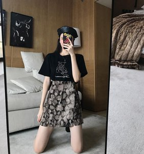 Women Wrap Short Mini Skirt Snake Skin Printed Side Cut Bandage High Waisted Leopard Print Pencil Skirt Women Streetwear