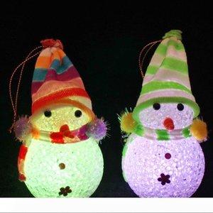 화려한 야간 조명 LED EVA 크리스마스 선물 참신 귀여운 발광 크리스마스 눈사람 EVA 구슬 빛 플래시 크리스마스 파티 바탕 화면 장식