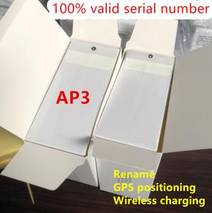 Действительный серийный номер Air Gen 3 АР3 H1 Чип поколения 3 Наушники беспроводной зарядки Bluetooth наушники Бобы Pro AP2 Earbuds 2-го поколения