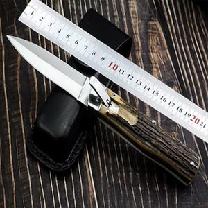 Лучшее качество Автоматический нож Тактические складные ножи D2 лезвия Антлерс ручки Tactical выживания Benchmade нож EDC Инструменты