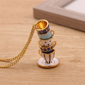 Bead String Type Fashion Stack Cups Pendant Necklace Cute Stereoscopic Creative Jewelry For Women Charm Collar Gift Accessories