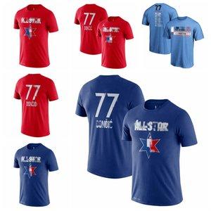 Luka Doncic DallasMavericksMen 2020 All-Star Game Name & Number Player Basketball T-Shirt Red Blue
