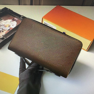M61506 M61698 Zippy XL المرأة المحفظة المحمولة الرجال طويل محافظ سستة مع حزام مقبض جلد جوازي مخلب النقدية محفظة حاملي بطاقات الائتمان