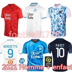 Olympique de Marseille Fußball Jersey 2020 2021 OM Marseille Maillot De Fuß PAYET THAUVIN Benedetto Polo Trikots 20 21 Marseille Shirts