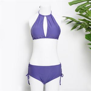 Sexy Purple Bikinis Women Fahion Two-piece Swimwear Set Surmmer Swimsuit Swimsuit for Pool Party Spa Seaside Beach