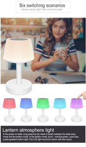 Hot selling product LED colorful table lamp charging bedside lamp bluetooth sound lamp multi-function eye protection learning night light