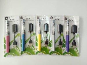 Cigarrillo electrónico Ego CE4 Blister individual kit con CE4 Clearomizer 1100mah batería EGO T vaporizador Elektronik sigara ec020