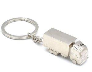 تبريد الأزياء الإبداعية شاحنة حاوية معدنية حلقة سلسلة المفاتيح كيرينغ مفتاح سلسلة خاتم فضة فوب مضحك تعزيز هدية عرس حزب DHB296