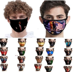 Face Ice Silk Masks Trump American Election Supplies Dustproof Print Mask Universal For Men And Women American Flag Mask XHH9-3045