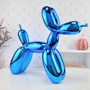 Büyük balon köpek heykel T200619 çağdaş sözleşmeli ev masaüstü Dekor Hayvanlar Küçük heykeller hediyeler sanat eserleri