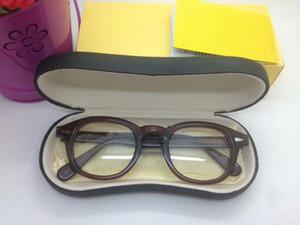 جودة جوني ديب خمر UV-الأزرق قص 4.0 بلانو عدسة النظارات UV400 49/46/44 نقية لوح لالنظارات الطبية النظارات الشمسية القضية كاملا مجموعة،