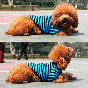 Sommer-Streifen Hund Shirt-Weste-Hundekleidung für kleine Hunde Yorkshire Terrier Shih Tzu Shirts Welpen-Katze-Kleidung chaleco para perro