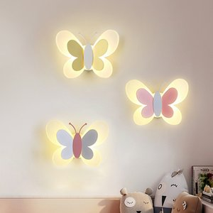 Creative Living Room Children's Room Bedroom Mirror led Wall Lamps Aisle Bedside Light Modern led Wall Light Nordic led Reading Wall Sconce